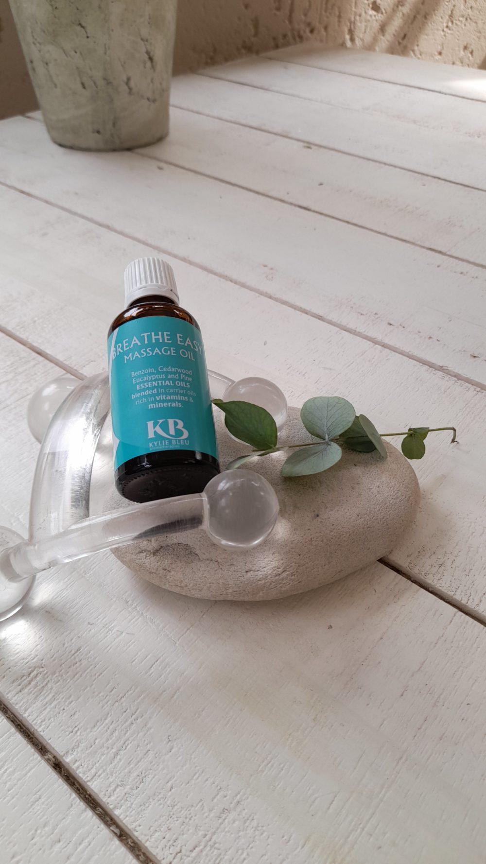 Breathe Easy Massage Oil - Eucalyptus, Benzoin, Cedarwood, Pine, blend