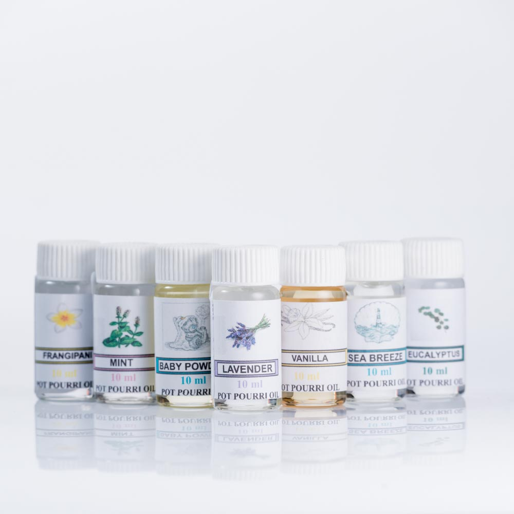 Potpourri oil, essential oil, inexpensive alternative